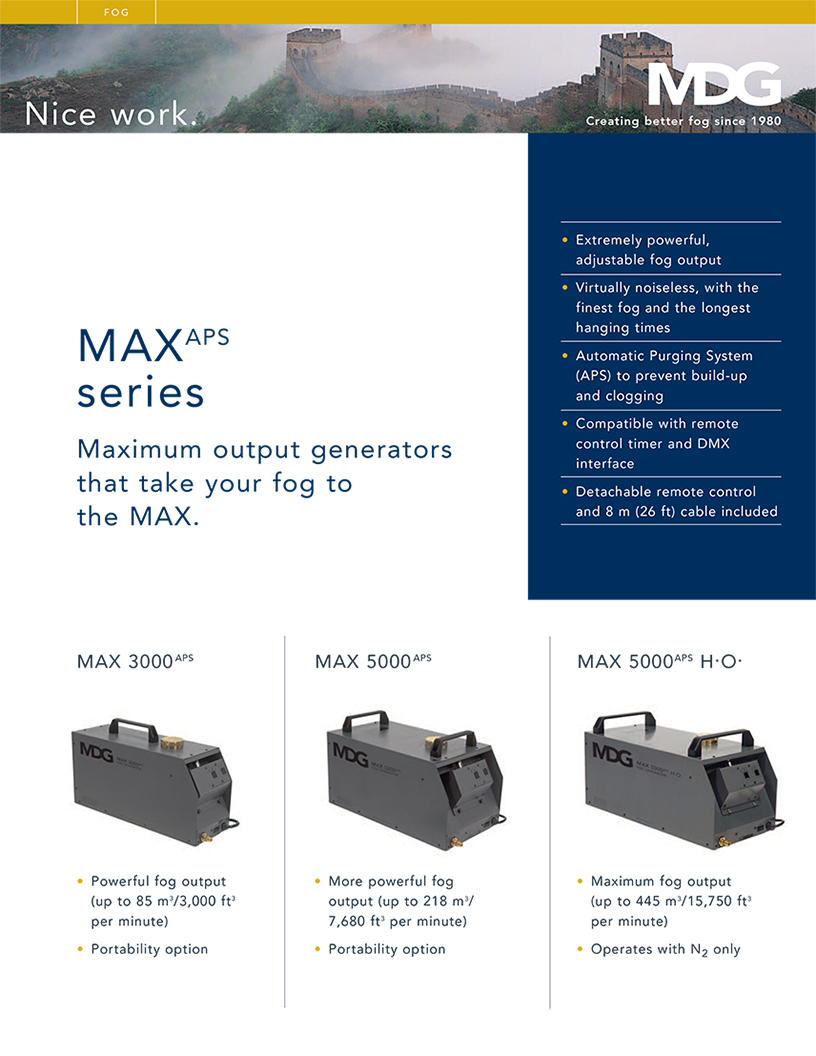 MAX APS Series Product Data